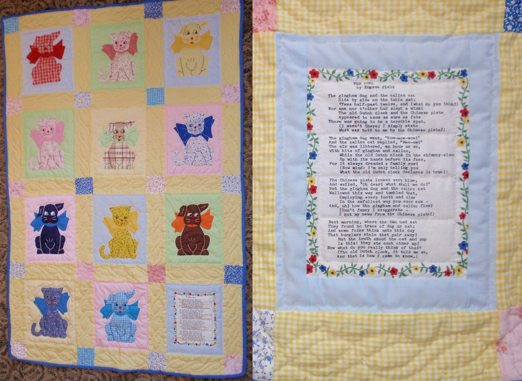 Baby Quilt - The Gingham Dog and the Calico Cat - w/Poem B… | Flickr : baby quilt poem - Adamdwight.com