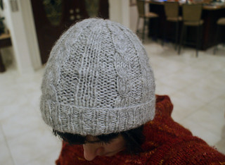 Cashmere-lined Mr. Shivers cap for dad | by thriftyknitter