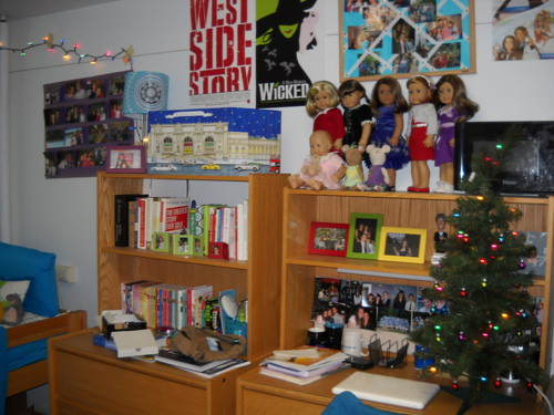 my dorm room decorated for christmas by lysacekfan728