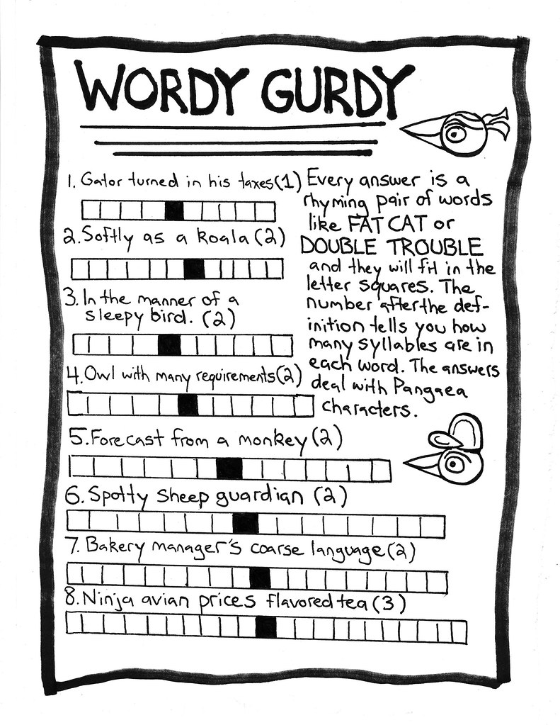 wordy gurdy pangaea coloring activity book kevin wolf flickr
