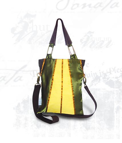 Bolsa De Mão Amarela : Bolsa flora amarela verde de tamanho m?dio