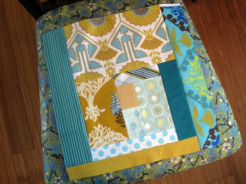 Teal Log Cabin for do. Good Stitches | by StitchedInColor