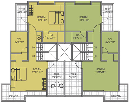 1st floor of a c type 3 bhk row house in leela greens tale for Ron lee homes floor plans