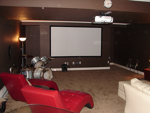Montgomery Theater Room in Finished Basement Wayne Homes Flickr
