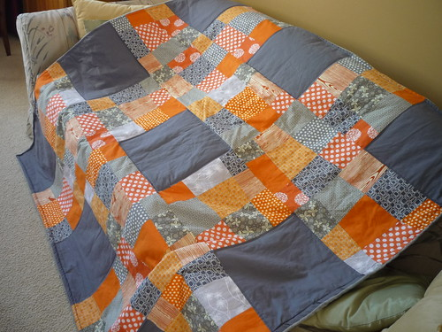 orange and gray quilt | by linen&string