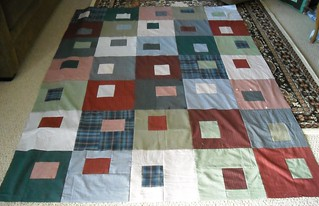 shirt quilt top finished | by vickivictoria