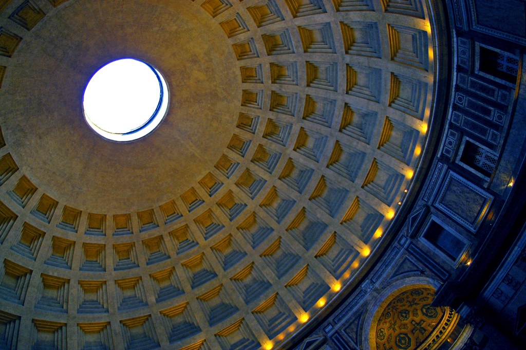 dome the dome of the pantheon in rome k b flickr