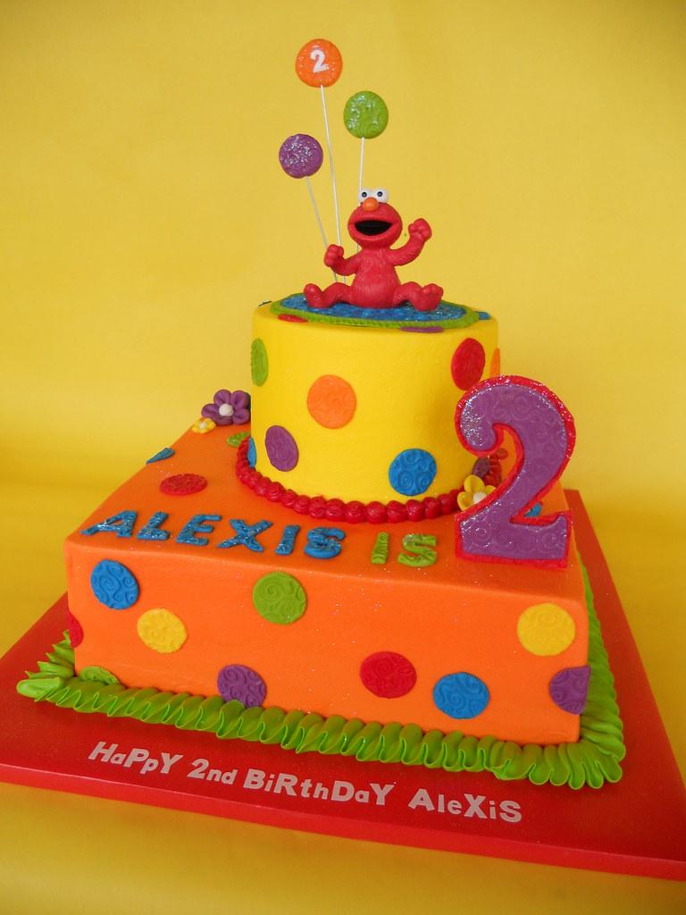 Hooray For Elmo 2nd Birthday Cake Hooray for my niece Alex Flickr