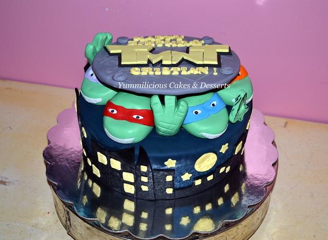 Enjoyable Teenage Mutant Ninja Turtle Birthday Cake Mersiha Flickr Funny Birthday Cards Online Alyptdamsfinfo