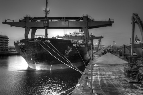 Discharging road salt in Leith | by Strathmore Photography