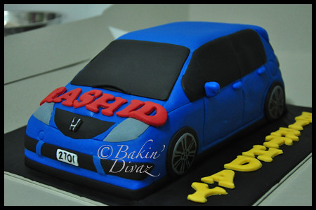 Blue Honda Jazz This Is My First 3d Car Cake Been Waiting Flickr