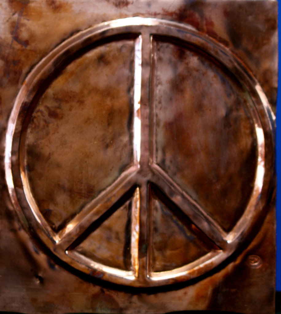Peace Symbol Universal Peace Wheel Copper Panel For Elko P Flickr