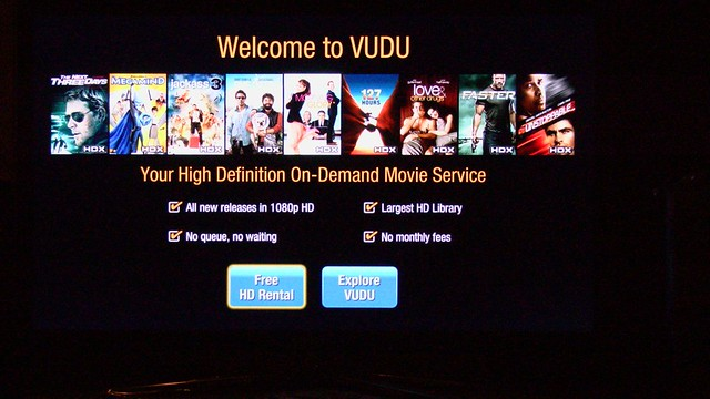 Vudu Samsung 6500 Welcoome screen booya gadget