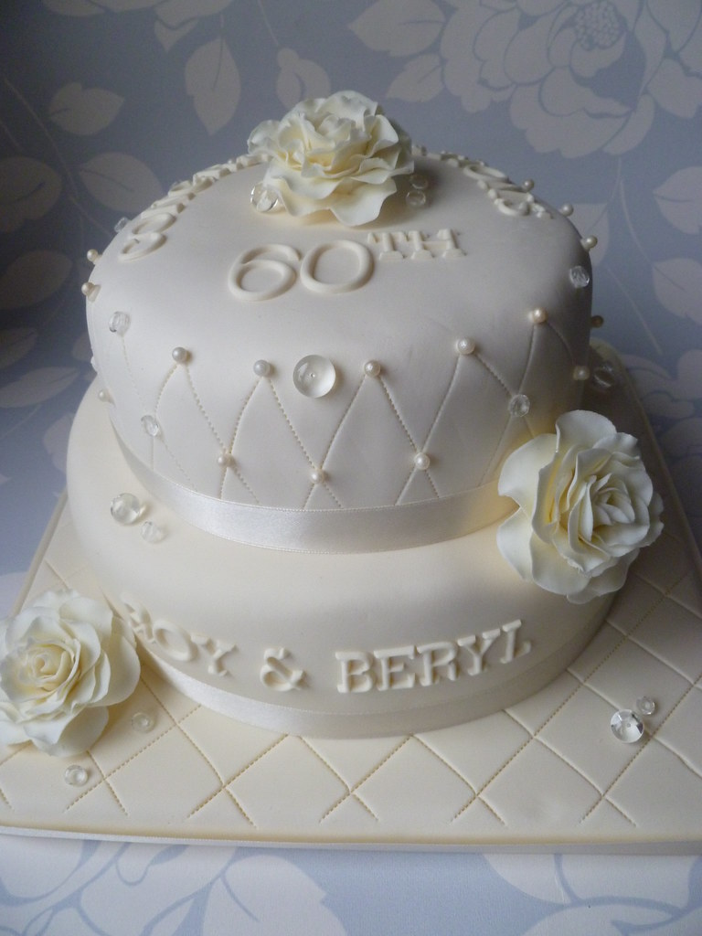 60th anniversary wedding cake