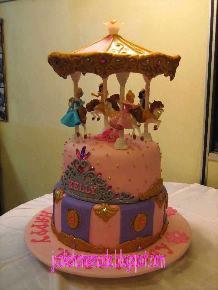 Disney Princess Carousel Birthday Cake Happy 3rd Birthday Flickr