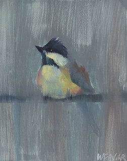 Chickadee Oil Sketch | by brweaver