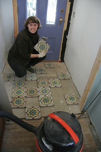 tiling the mudroom | by elizajanecurtis