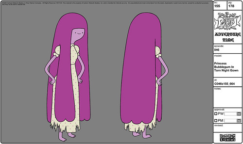 Princess Bubblegum in Torn Night Gown | by Fred Seibert