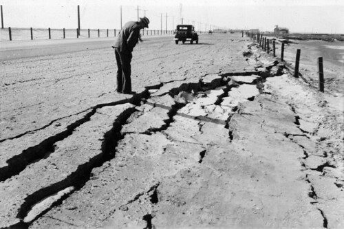 Cracked highway near Long Beach, 1933 | by CIRonline