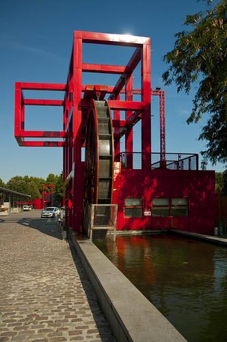 france paris parc de la villette waterwheel folly flickr. Black Bedroom Furniture Sets. Home Design Ideas