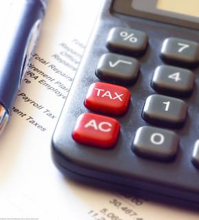 Tax Calculator and Pen | by Dave Dugdale
