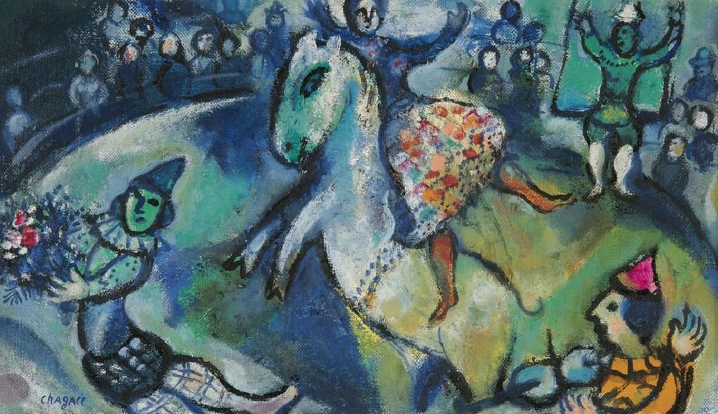 Marc Chagall - Scene de Cirque (1958)