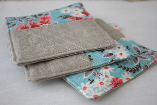 vintage fabric coasters. | by CB Handmade