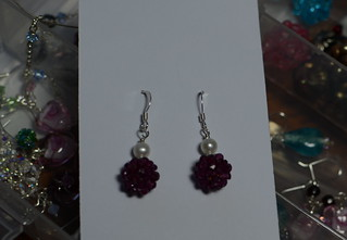 Rhodolite earrings | by dottycookie