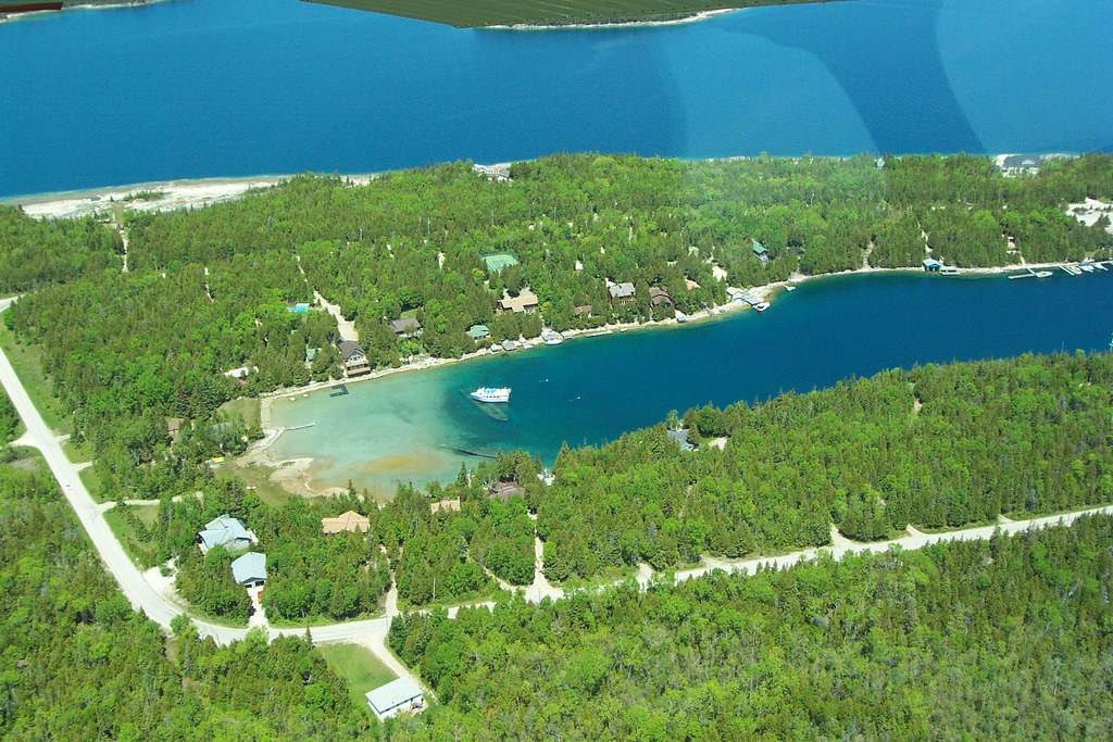 Big Tub Harbor | Aerial view of Big Tub Harbor, Tobermory, O… | Flickr
