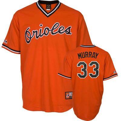 new concept bd2ba d8532 Baltimore Orioles #33 Eddie Murray Orange Throwback Jersey ...