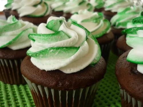 Crème de Menthe Cupcakes! | It's all about the green dessert ...