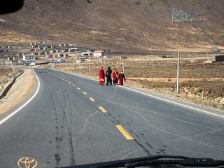 Monks On The Road | by niqodemus