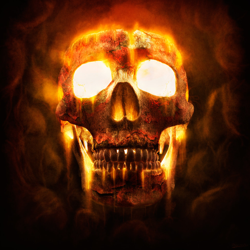 Fire skull a little playtime with my skull i shot the sku flickr fire skull by dracorubio fire skull by dracorubio voltagebd Choice Image