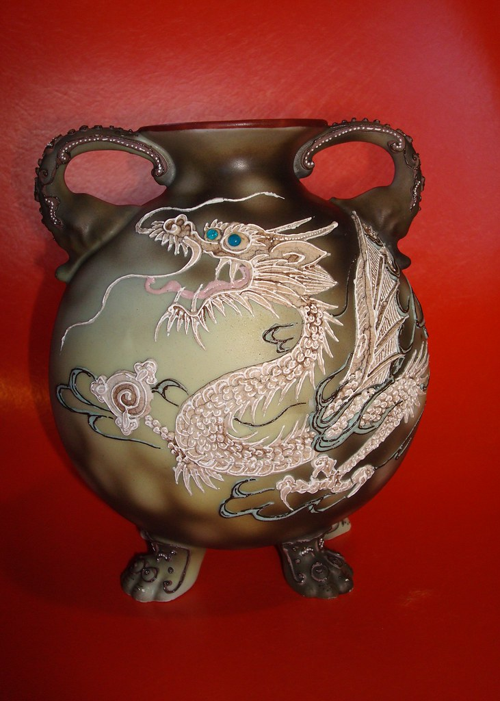 Nippon Vase With Elephant Handles And Feet This Is An Olde Flickr