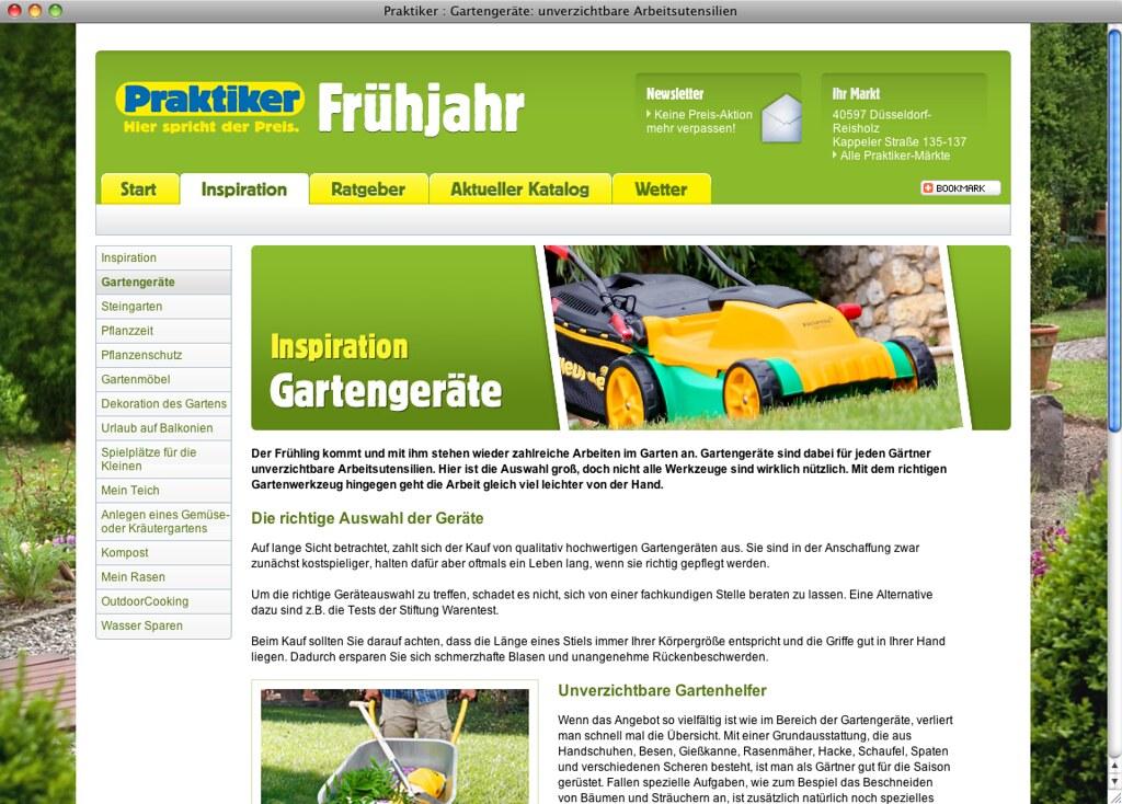Praktiker Frühjahr 2011 Heute Macht Das Praktiker Winterpo Flickr
