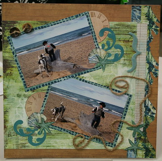 Having fun at the Beach Premade/Pre-Made Scrapbook Pages | by Polly's Paper