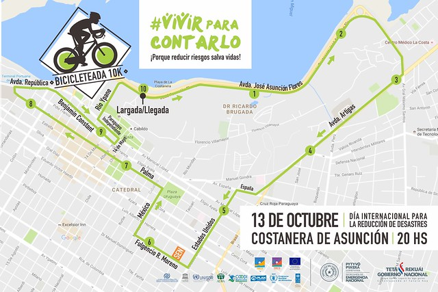 Mapa #Bicicleteada10k
