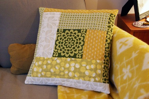 Quilted cushion | by What Katie Does