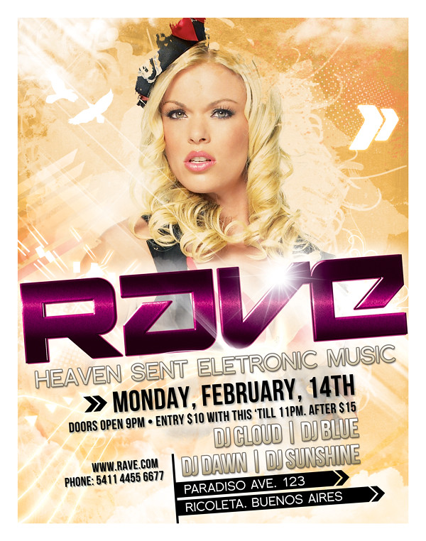 rave flyer poster template a psd flyer and or poster templ flickr
