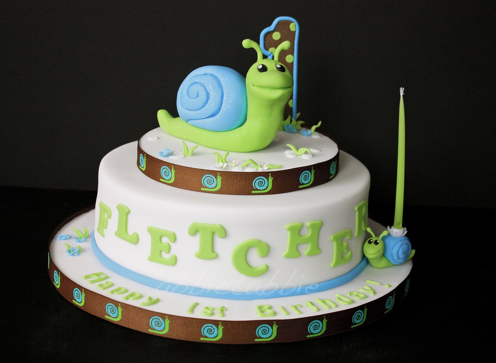 Fletchers First Birthday Cake Heres The Fi Flickr