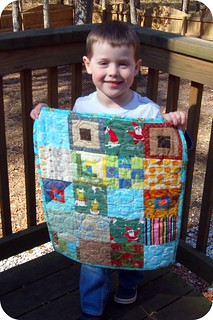 Sean & his mini quilt | by j_q_adams