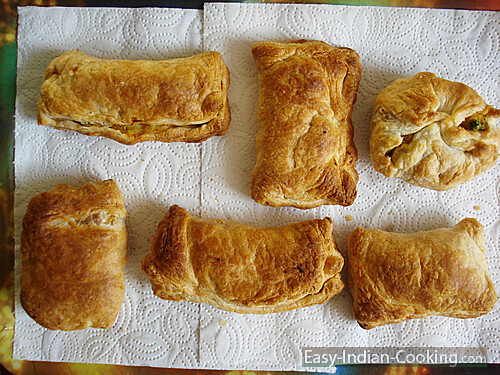 Homemade Baked Vegetable Puffs Easy Indian Recipes Flickr