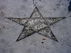 Sidewalk pentagram
