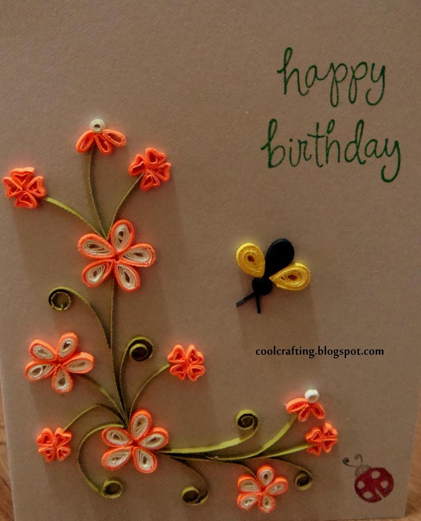 Happy Birthday Card Orange Flowers Blog Coolcraftingb Flickr