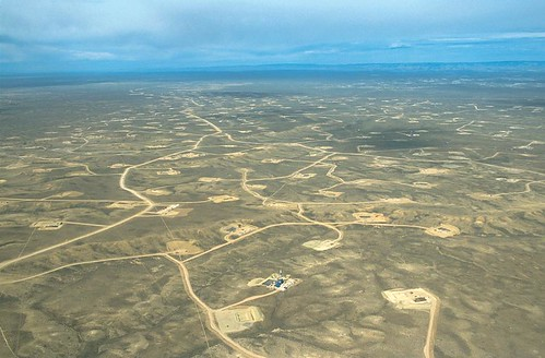 Aerial view of the Jonah natural gas field, upper Green River valley, Wyoming, 2001 | by SkyTruth