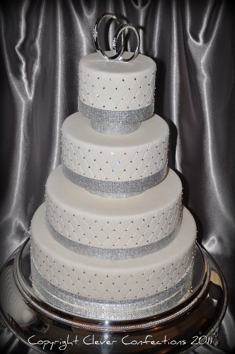 Bling Bling Wedding Cake | This fondant covered cake is impr… | Flickr
