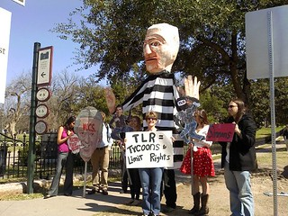 TLR Rally protesters in front of state capitol | by Public Citizen Texas