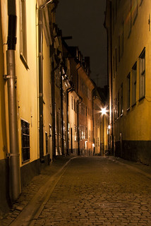 Night Alley in Stockholm Old Town District | by diesmali