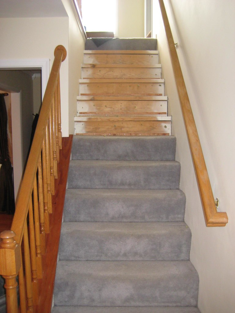 ... Before Staircase Refacing | By The Finishing Company Richmond Va