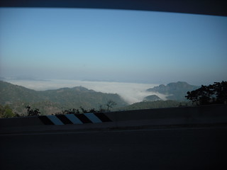 the  mountain view from car window. | by dinkhuntod